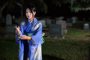 """The Grove of Rashomon"" - Wicked lit 2015 at Mountain View Cemetery."
