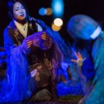 "Alpha Takahasi and Sachi K (2) in ""The Grove of Rashomon."" Photo by Daniel Kitayama"