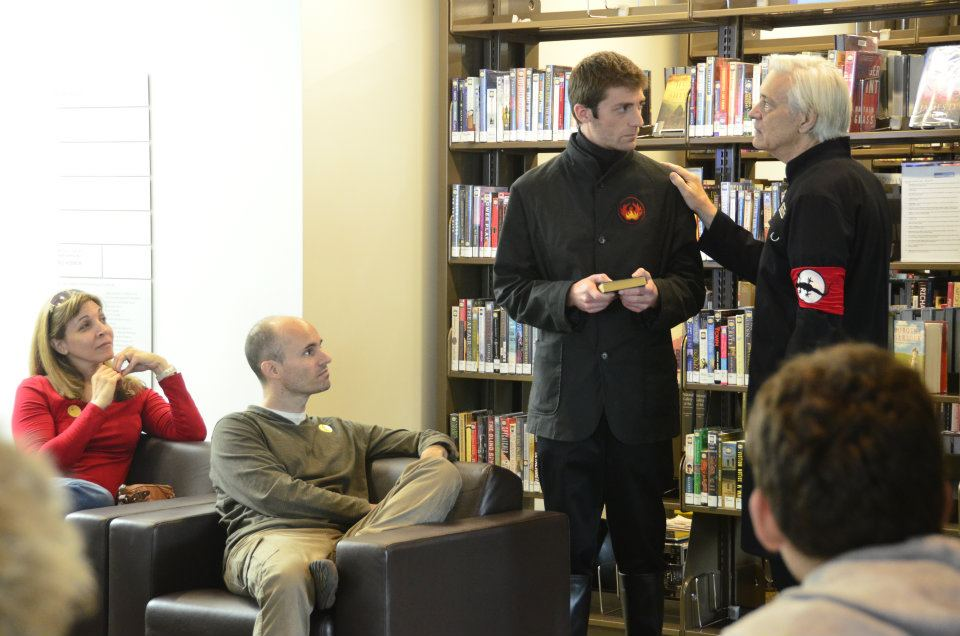 Daniel Flapper and Michael Prichard w-audience 2 - Photo by John T. Cogan