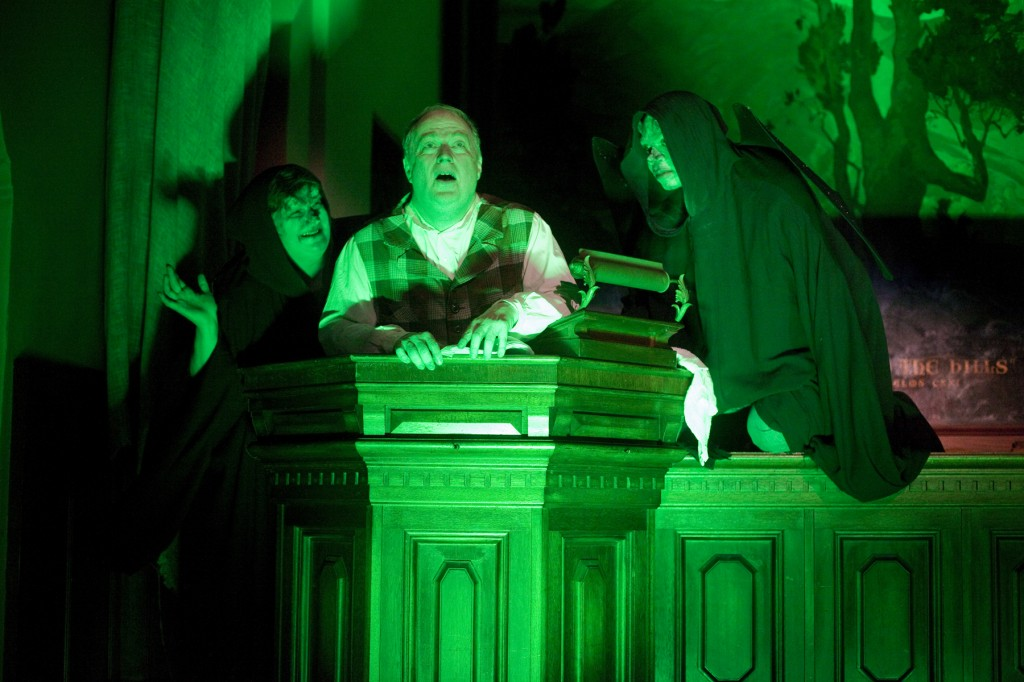 "LizAnne Kiegley, Richard Large and Eric Harris in ""The Chimes,"" Wicked Lit 2011. Photo by Daniel Kitayama."