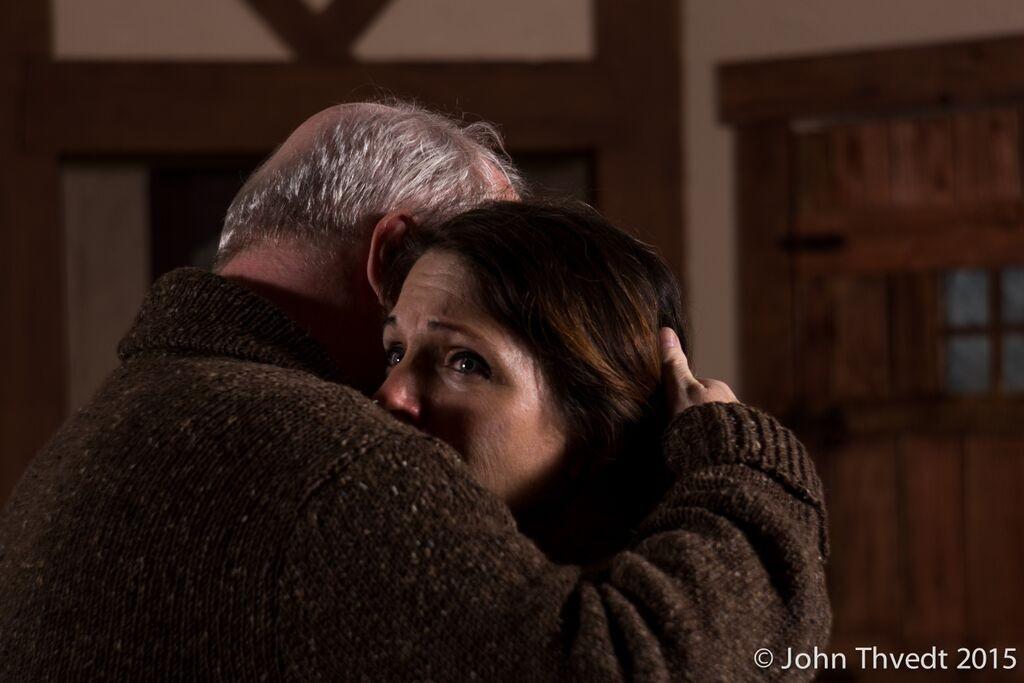 "Richard Large and Jennifer Novak Chun in ""The Monkey's Paw."" Photo by John Thvedt."