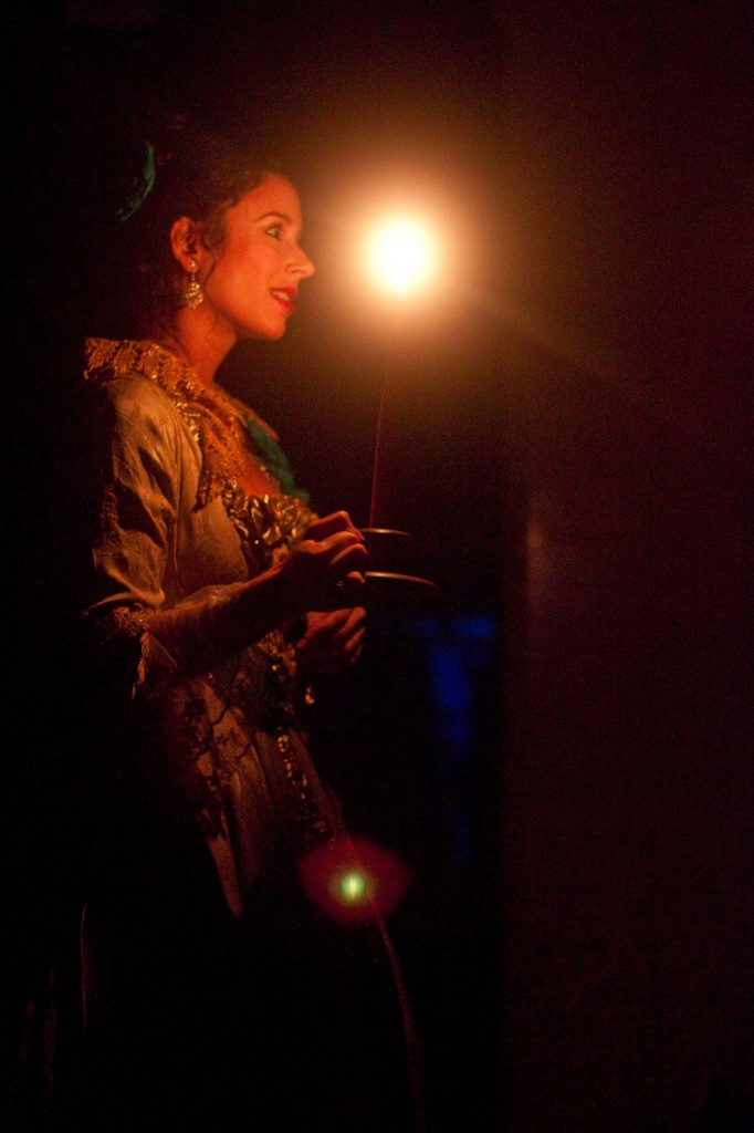 "Shelby Kocee in ""The Cask of Amontillado"" - Wicked Lit 2010. Photo by Daniel Kitayama"