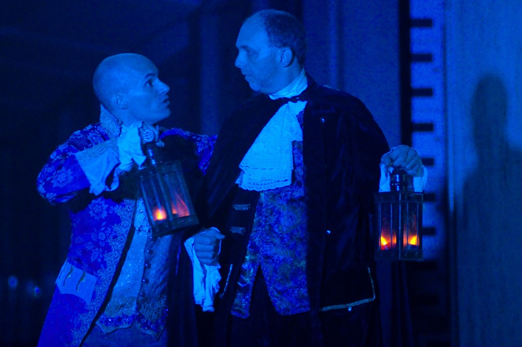 """William Joseph Hill and Brian David Pope in """"The Cask of Amontillado"""" - Wicked Lit 2011. Photo by Daniel Kitayama"""