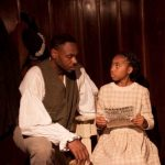 "Eric Harris and Tia Nalls  in ""Two Pictures In One,""  History Lit 2012. Photo by Daniel Kitayama."