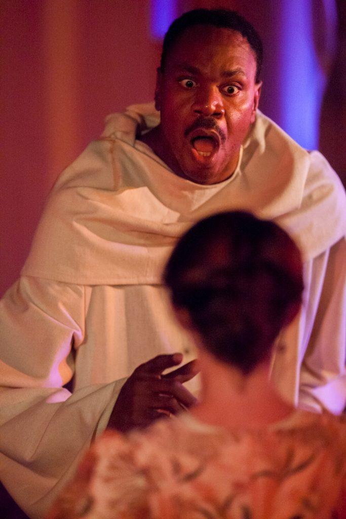 "Eric Harris in ""The Monk."" Wicked Lit 2014 - Photo by Daniel Kitayama"