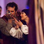 "Kyle Fox and Tina Van Berckelaer in ""The Spirits of Walpurgisnacht."" Wicked Lit 2014 - Photo by Daniel Kitayama"