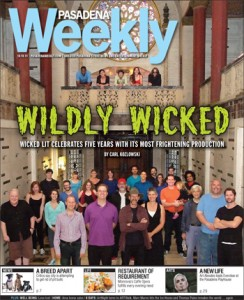 Wicked Lit 2013 featured on the Cover of Pasadena Weekly